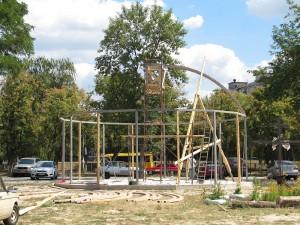 Будівництво куполу церкви