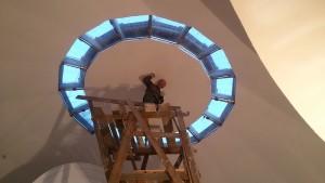 Білий підготовлений холст куполу
